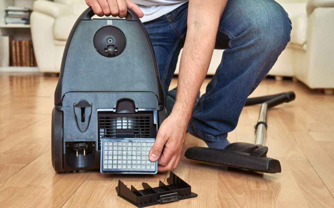 regular vacuuming helps to improve indoor air quality